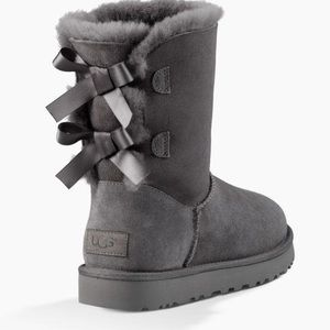 UGG Bailey Bow Boots real Lamb fur & sheep skin